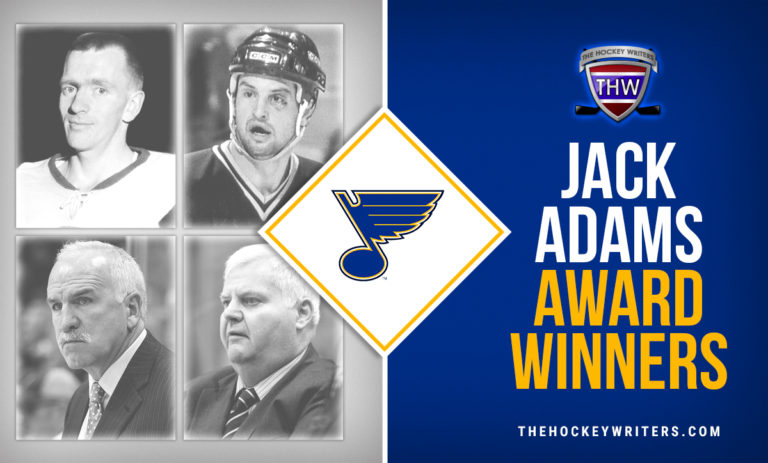 St. Louis Blues' Hockeymas 4 Jack Adams Award Winners Red Berenson, Brian Sutter, Joel Quenneville, and Ken Hitchcock
