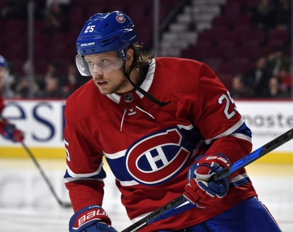 Canadiens forward Jacob De La Rose