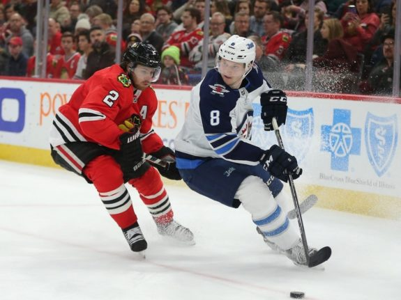 Jets defenseman Jacob Trouba