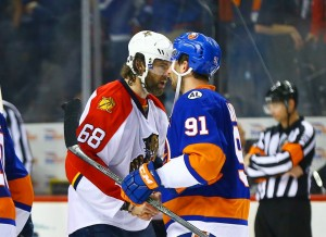In dispatching Jaromir Jagr and the Panthers, John Tavares forged his first big playoff moment. (Andy Marlin-USA TODAY Sports)