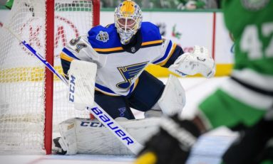 Allen, Blues Beat Short-Handed Blackhawks 4-0