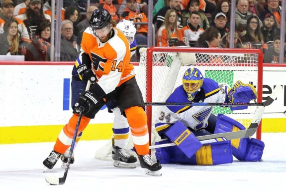 Jake Allen Blues Sean Couturier Flyers