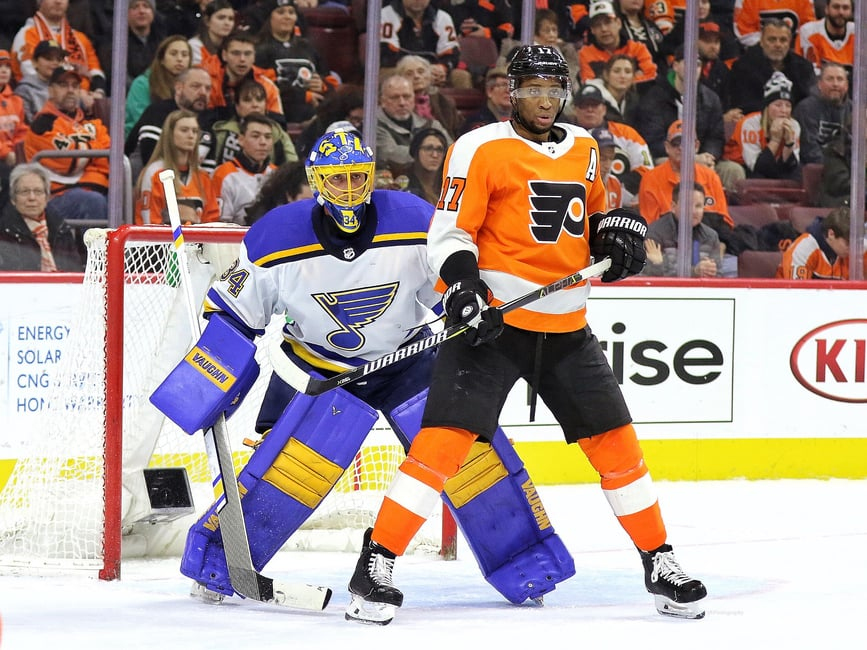 Jake Allen Blues Wayne Simmonds Flyers