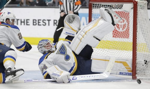 David Perron's Two Late Goals Power Blues past Jets 4-3 in Overtime