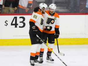The Flyers' offense came to play on Wednesday, but Lundqvist kept them at bay for most of the night. (Amy Irvin / The Hockey Writers)