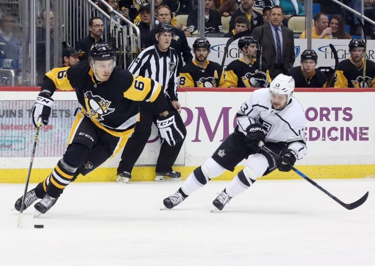 Penguins defenseman Jamie Oleksiak