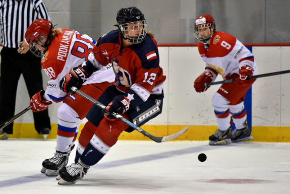 Janine Weber of the New York Riveters. (Photo Credit: Troy Parla)