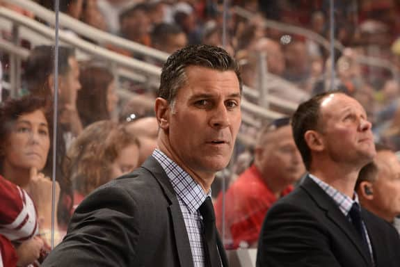 Head coach Jared Bednar of the Colorado Avalanche