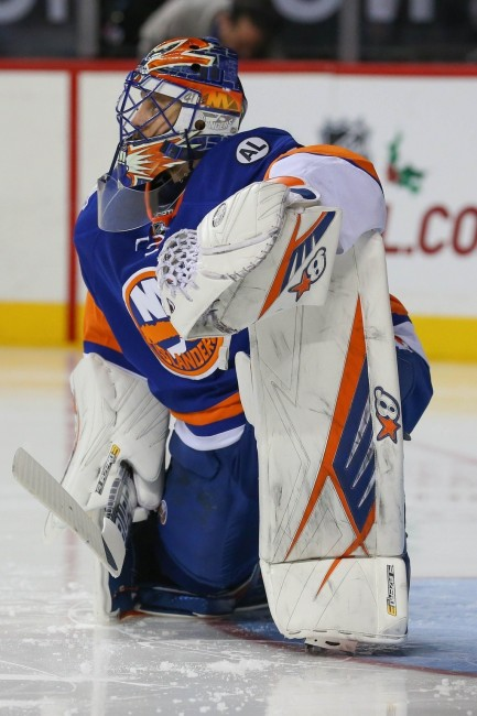 (Anthony Gruppuso-USA TODAY Sports) Garth Snow is reportedly shopping Jaroslav Halak and there should be a handful of teams interested in acquiring the veteran goaltender.