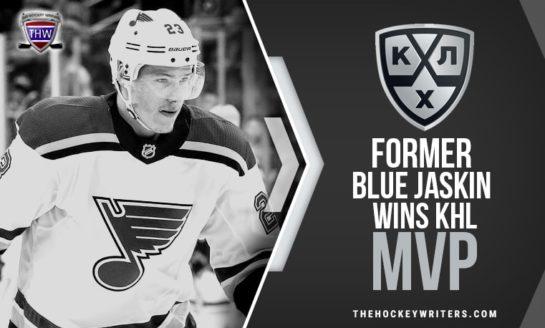 Former Blue Jaskin Wins KHL MVP