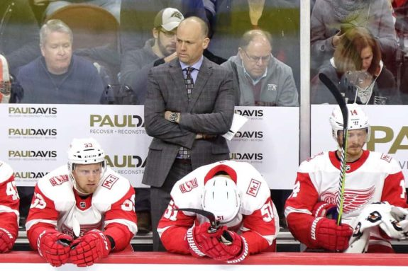 Jeff Blashill Red Wings bench