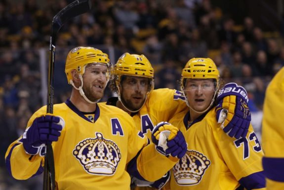 Jeff Carter Anze Kopitar Tyler Toffoli Los Angeles Kings