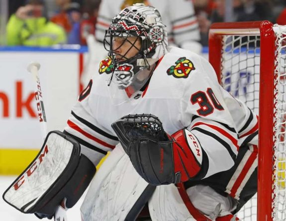Chicago Blackhawks goaltender Jeff Glass