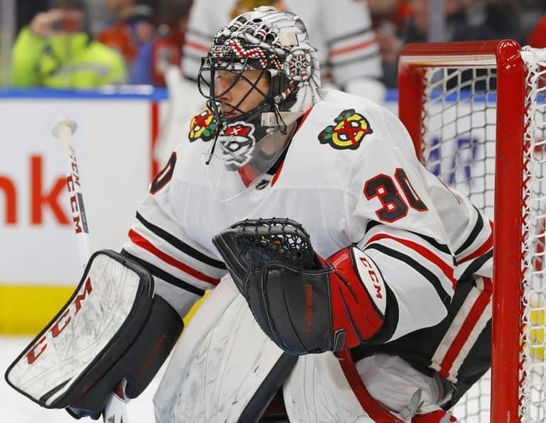 Chicago Blackhawks goaltender Jeff Glass