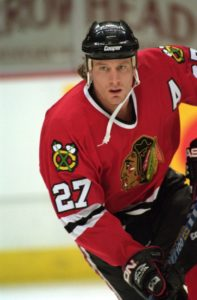 Jeremy Roenick #27 of the Chicago Blackhawks