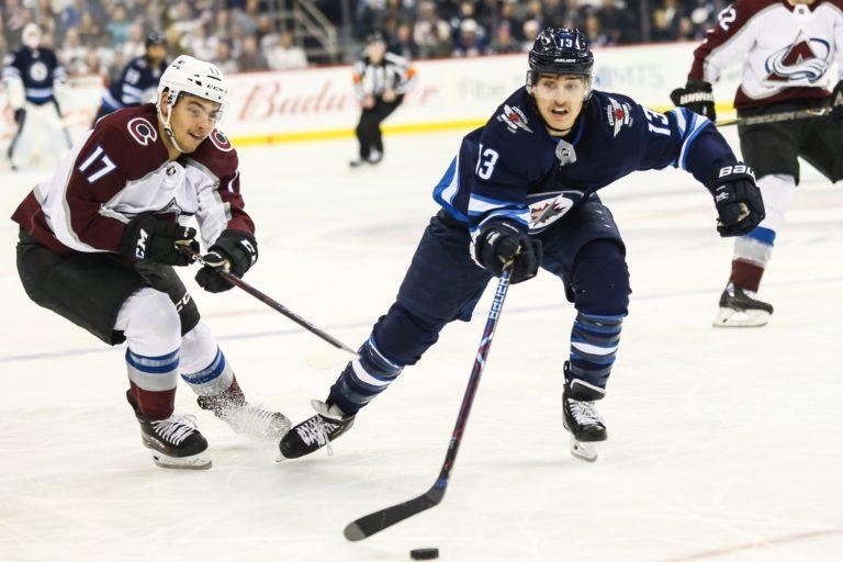 Winnipeg Jets Brandon Tanev Colorado Avalanche Tyler Jost