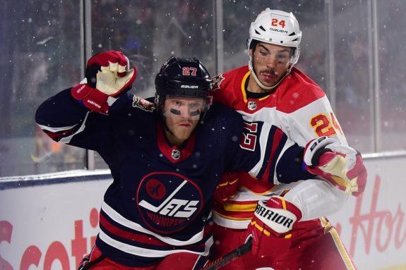 Winnipeg Jets Nikolaj Ehlers Calgary Flames Travis Hamonic
