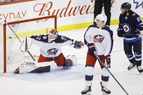Columbus Blue Jackets Sergei Bobrovsky and Zach Werenski