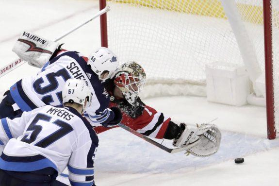 New Jersey Devils Keith Kinkaid Winnipeg Jets Mark Scheifele