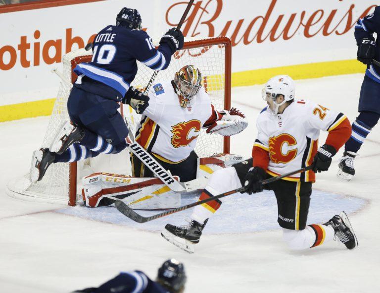 Calgary Flames goaltender David Rittich