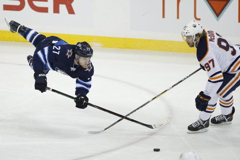 Winnipeg Jets' Nikolaj Ehlers Edmonton Oilers' Connor McDavid