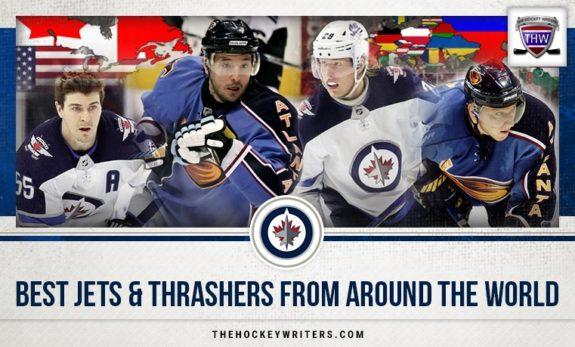 Best Jets and Thrashers from Around the World Mark Scheifele, Patrik Laine, Ilya Kovalchuk, and Marian Hossa