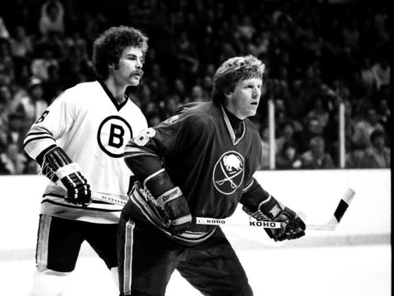 Jim Schoenfeld #16 of the Buffalo Sabres