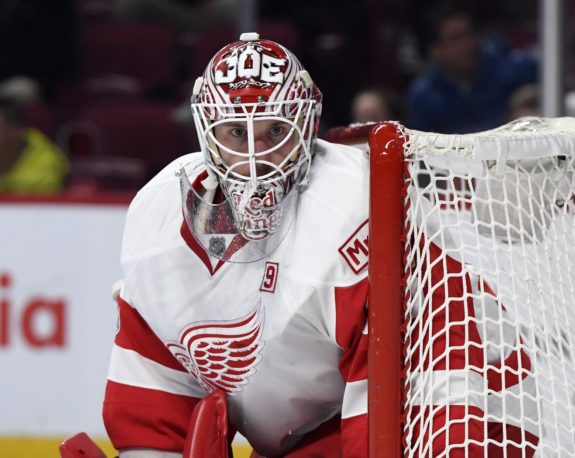 Red Wings goalie Jimmy Howard