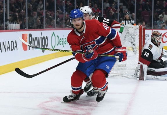 Joel Armia #40 of the Montreal Canadiens