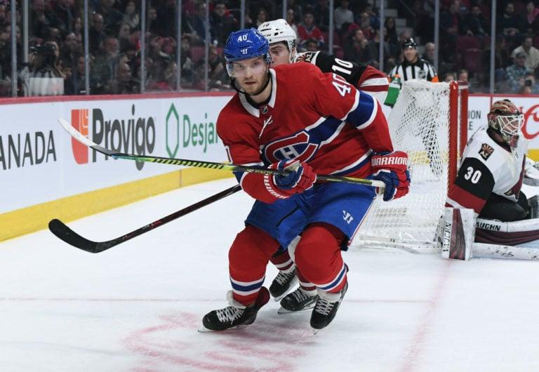 Joel Armia #40 of the Montreal Canadiens