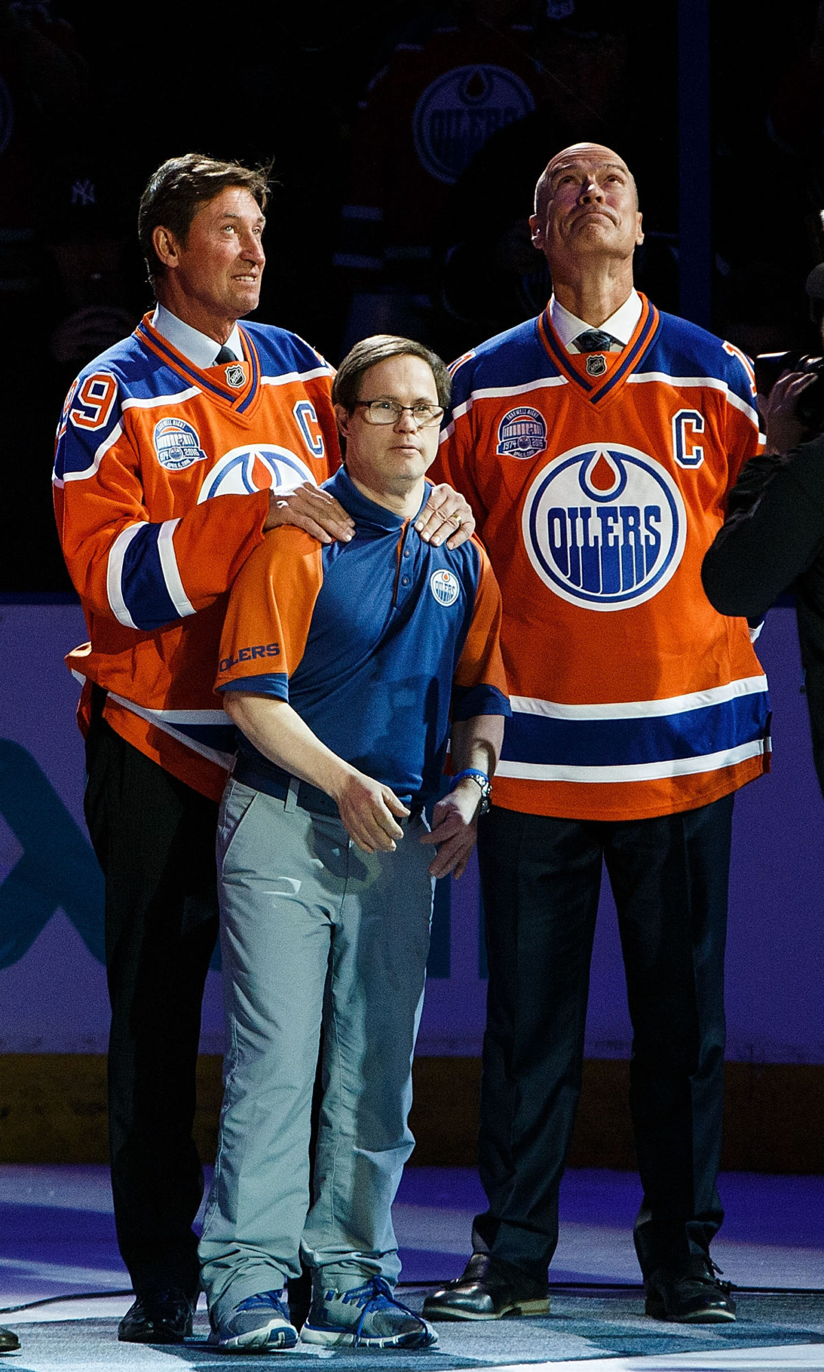 Wayne Gretzky Mark Messier Joey Moss Edmonton Oilers