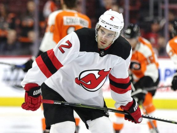 John Moore, New Jersey Devils (Amy Irvin / The Hockey Writers)