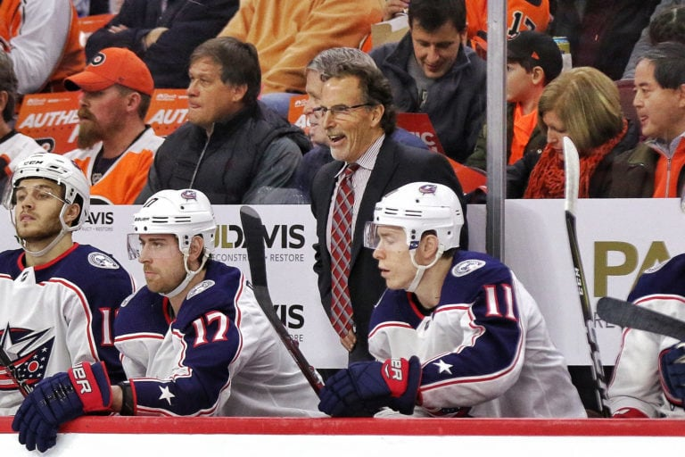 John Tortorella Blue Jackets bench