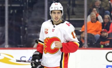 Gaudreau Scores Twice in Flames' 4-2 Victory over Maple Leafs