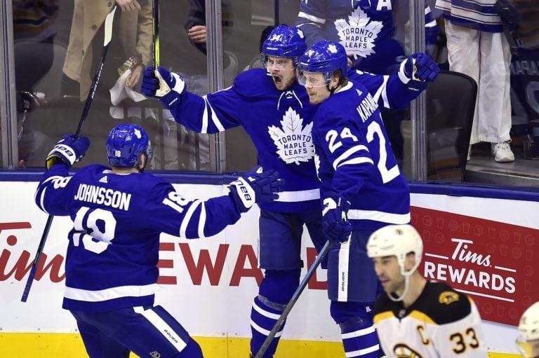 Toronto Maple Leafs Auston Matthews Andreas Johnsson Kasperi Kapanen