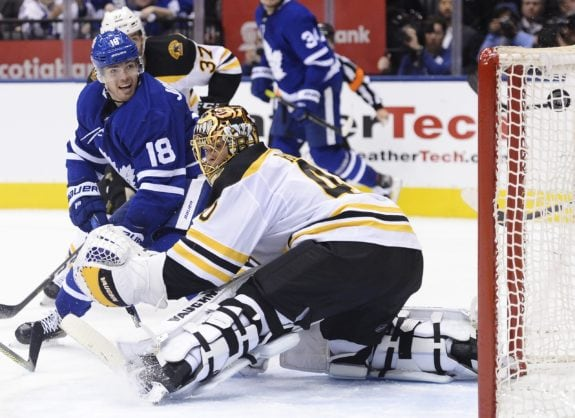 Toronto Maple Leafs Andreas Johnsson Boston Bruins Tuukka Rask