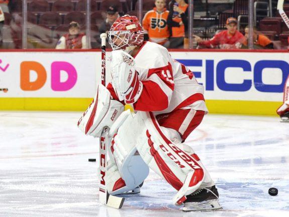 Jonathan Bernier #45, Detroit Red Wings