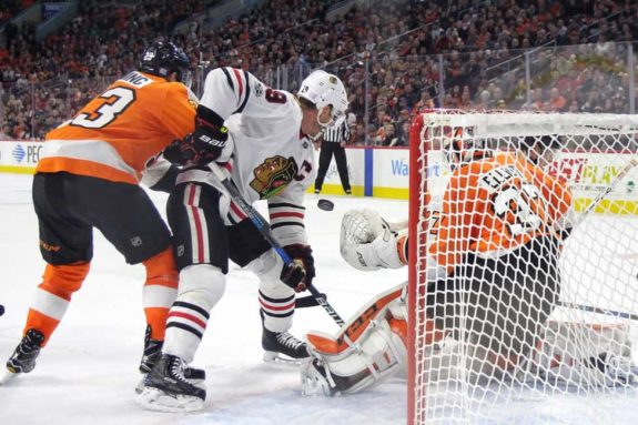 Jonathan Toews Blackhawks Brian Elliott Flyers