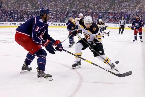 Seth Jones Columbus Blue Jackets Brad Marchand Boston Bruins
