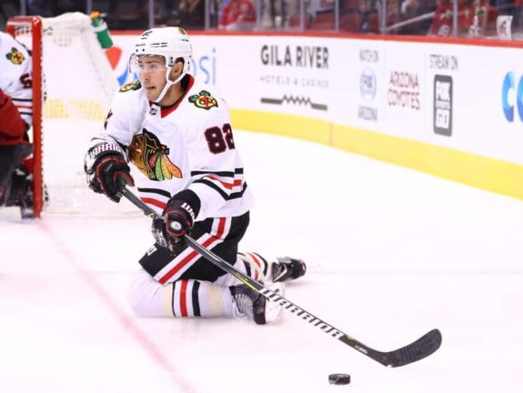 Chicago Blackhawks defenseman Jordan Oesterle