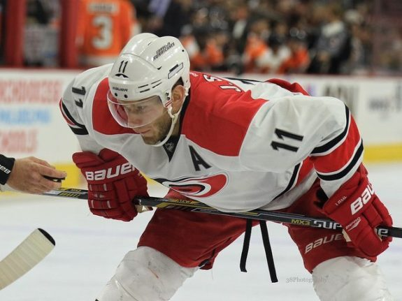 Carolina Hurricanes forward Jordan Staal