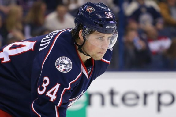 blue jackets forward josh anderson