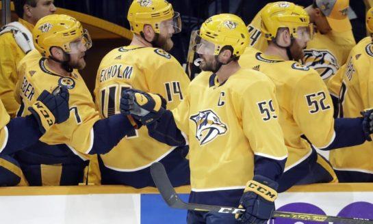Josi, Arvidsson Lead Predators to 6-1 Win over Ducks