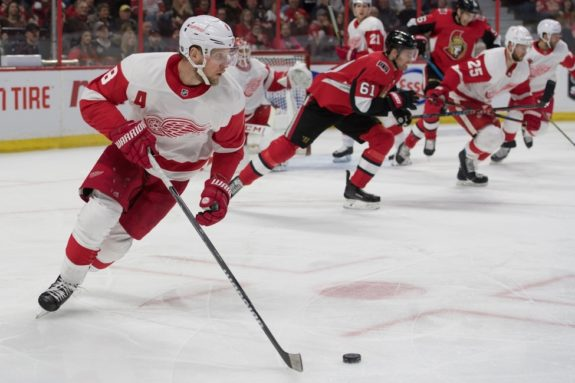 Red Wings left wing Justin Abdelkader
