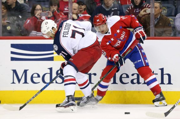 Justin Williams and Nick Foligno  (Geoff Burke-USA TODAY Sports)