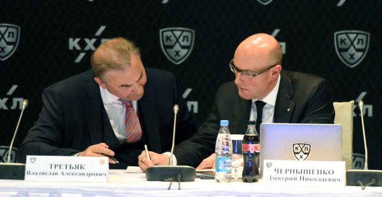 Vladislav Tretyak and Dmitry Chernyshenko