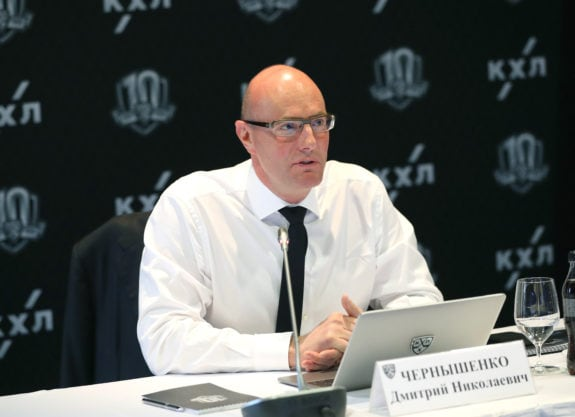 Conference of the KHL Clubs Heads. Dmitry Chernyshenko
