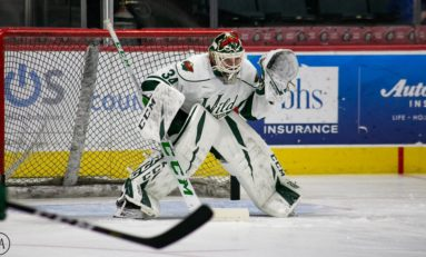 Kahkonen Has 32 Saves, Suter Scores, Wild Win