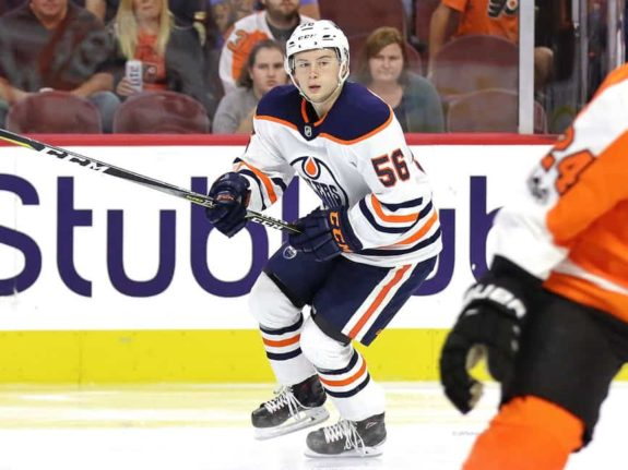 Kailer Yamamoto, Edmonton Oilers,  Oct. 21, 2017 (Amy Irvin / The Hockey Writers)