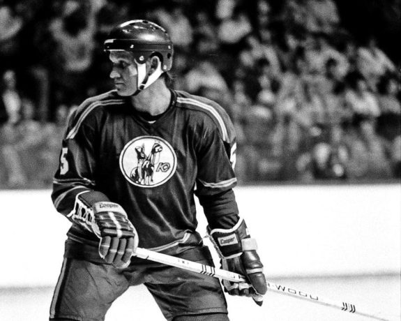 Gary Bergman #5 of the Kansas City Scouts